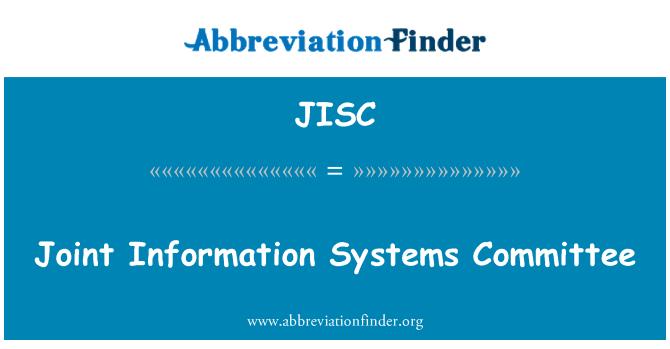 JISC: Müşterek Enformasyon Sistemleri Komitesi