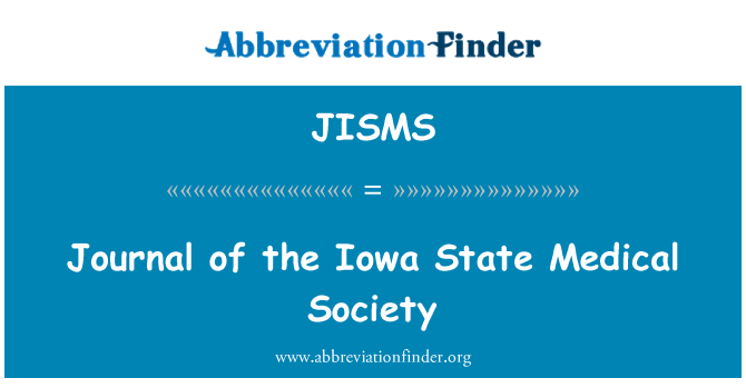 JISMS: Journal of the Iowa State Medical Society
