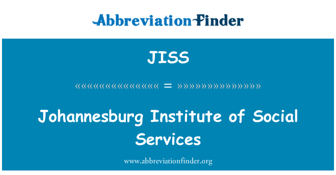 JISS: Johannesburg Institute of Social Services