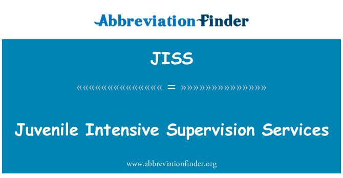 JISS: Juvenile Intensive Supervision Services