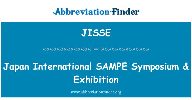 JISSE: Japan International SAMPE Symposium & Exhibition