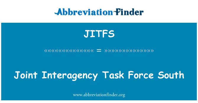 JITFS: Joint Interagency Task Force South