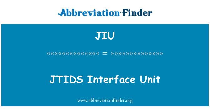 JIU: JTIDS Interface Unit
