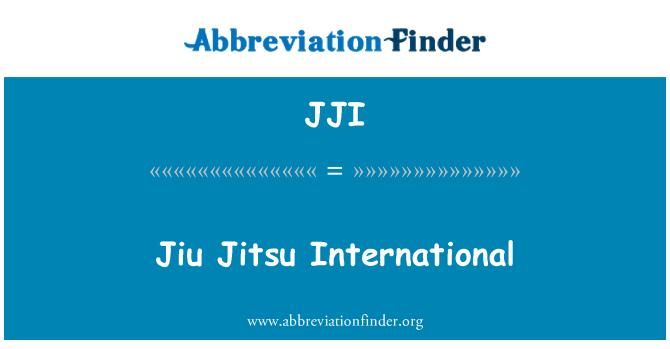 JJI: Jiu Jitsu International