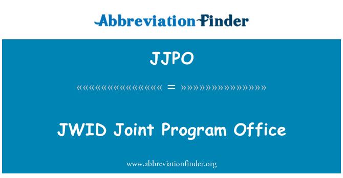JJPO: JWID Joint Program Office