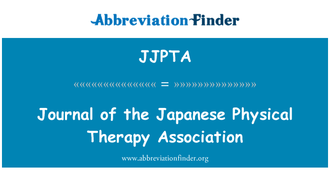 JJPTA: Journal of the Japanese Physical Therapy Association