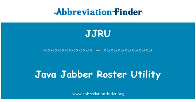 JJRU: Java Jabber Roster Utility