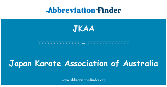 JKAA: Japan Karate Association of Australia