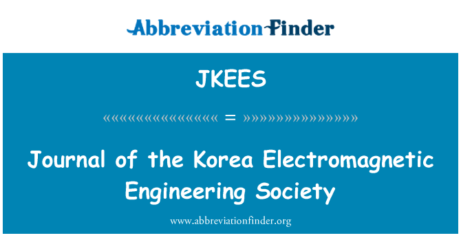 JKEES: Journal of the Korea Electromagnetic Engineering Society