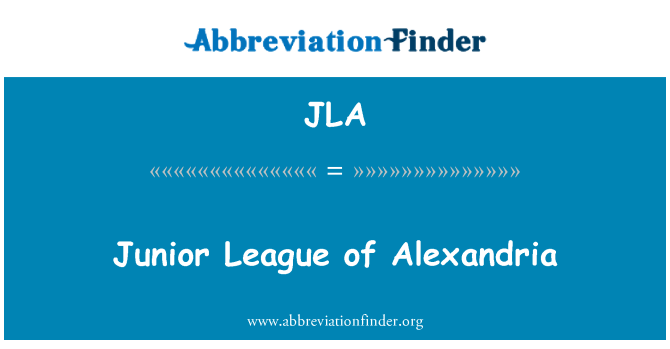 JLA: Junior League of Alexandria