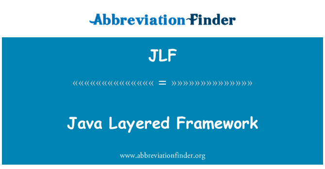 JLF: Java 分层框架