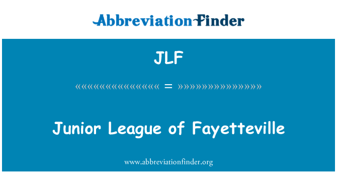 JLF: Junior League of Fayetteville