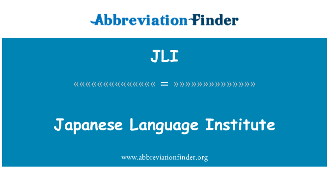 JLI: Japanese Language Institute