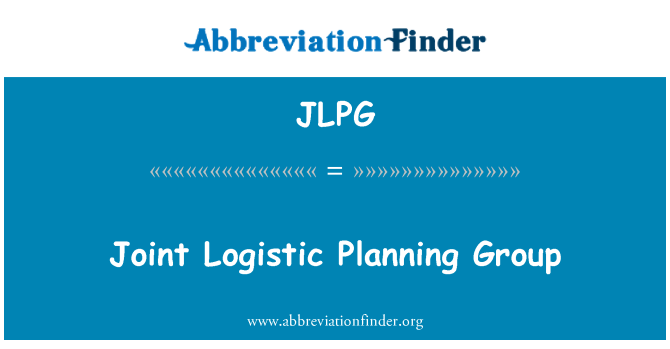 JLPG: Joint Logistic Planning Group