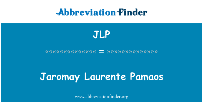 JLP: Jaromay Laurente Pamaos