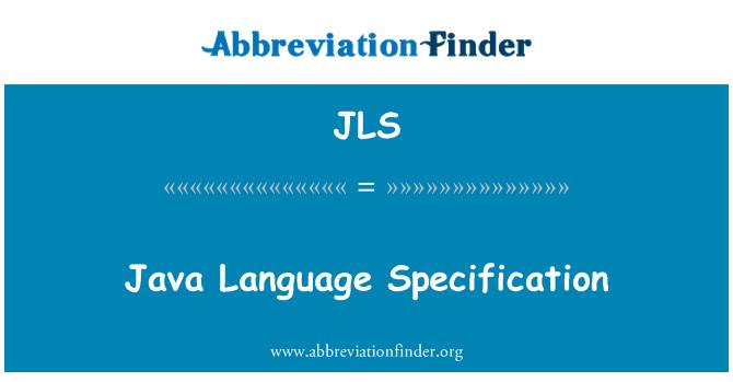 JLS: Java Language Specification