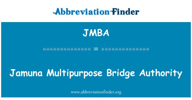 JMBA: Jamuna Multipurpose Bridge Authority