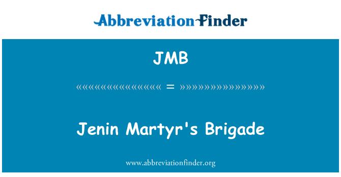 JMB: Jenin Martyr's Brigade