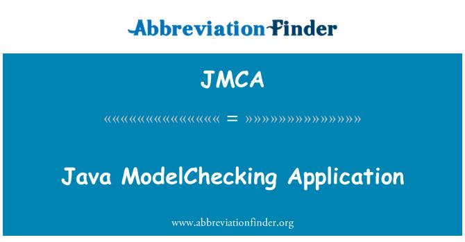 JMCA: Aplicación de Java ModelChecking