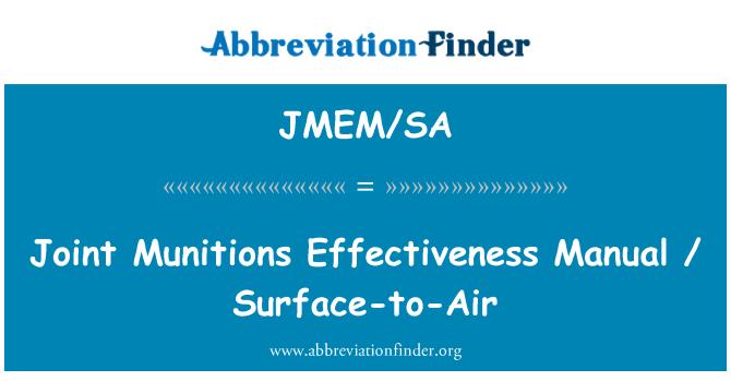 JMEM/SA: Joint Munitions Effectiveness Manual / Surface-to-Air