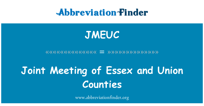 JMEUC: Joint Meeting of Essex and Union Counties