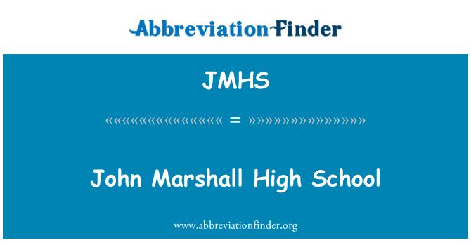 JMHS: John Marshall Lisesi