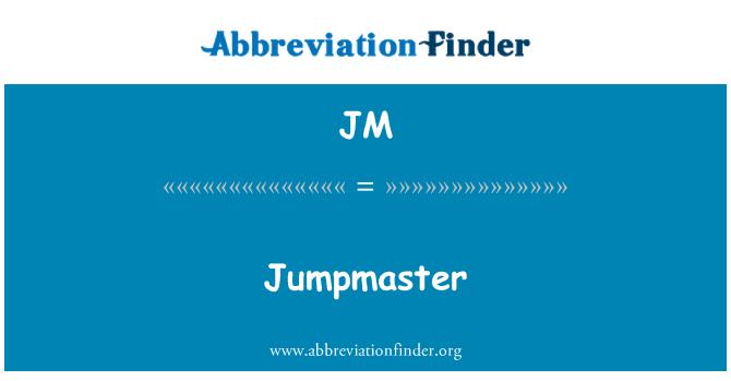 JM: Jumpmaster
