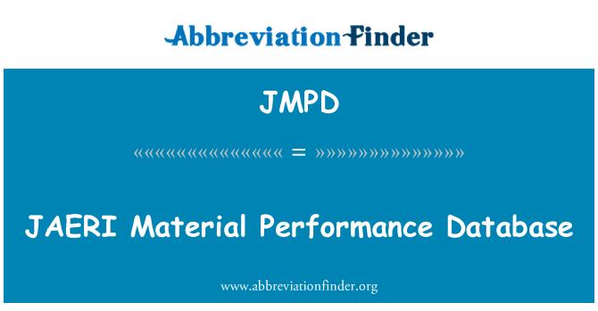 JMPD: Base de datos de rendimiento del Material JAERI