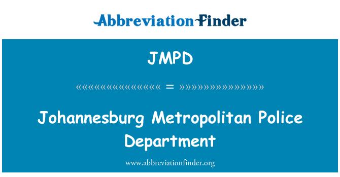 JMPD: Johannesburg Metropolitan Police Department