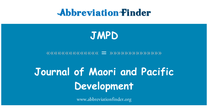 JMPD: Diario de los maoríes y Pacífico desarrollo