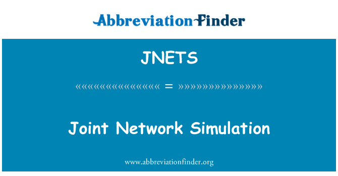 JNETS: Joint Network Simulation