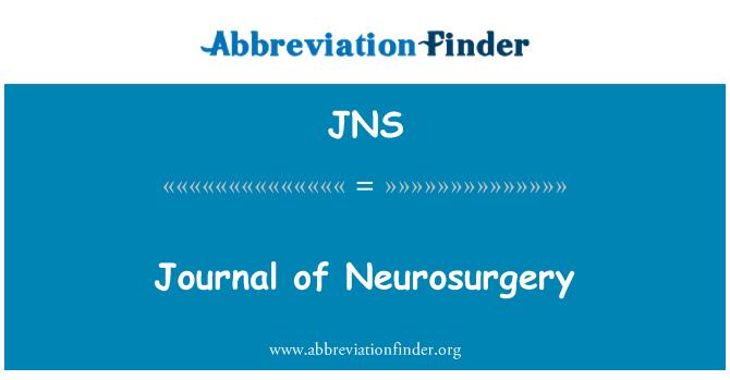 JNS: Journal of Neurosurgery
