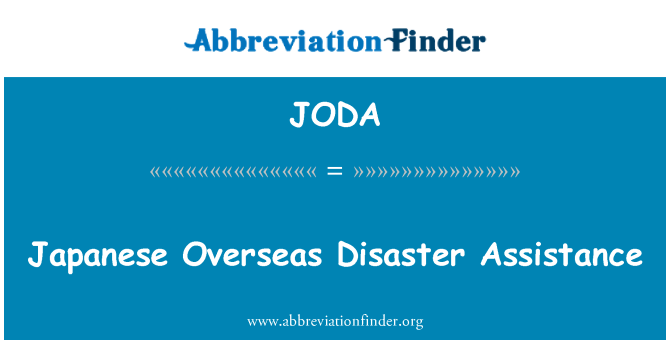JODA: Japanese Overseas Disaster Assistance