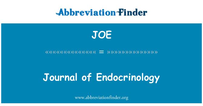 JOE: Journal of Endocrinology