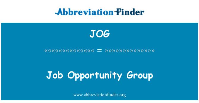 JOG: Job Opportunity Group