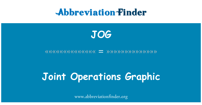 JOG: Joint Operations Graphic