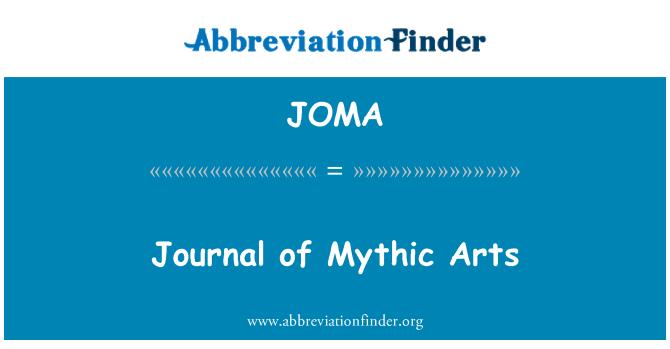 JOMA: Revista de Artes míticas