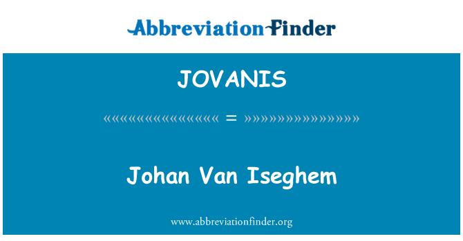 JOVANIS: Johan Van Iseghem
