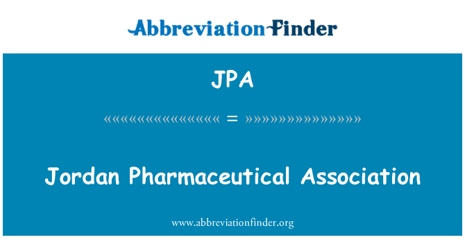 JPA: Jordan Pharmaceutical Association