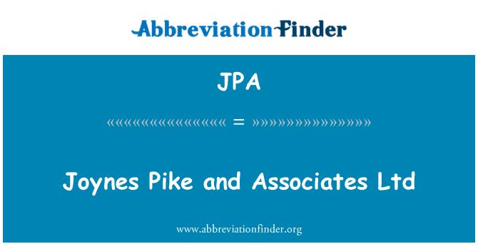 JPA: Joynes Pike and Associates Ltd