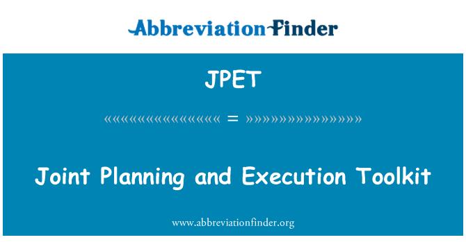 JPET: Planificación conjunta y ejecución de herramientas