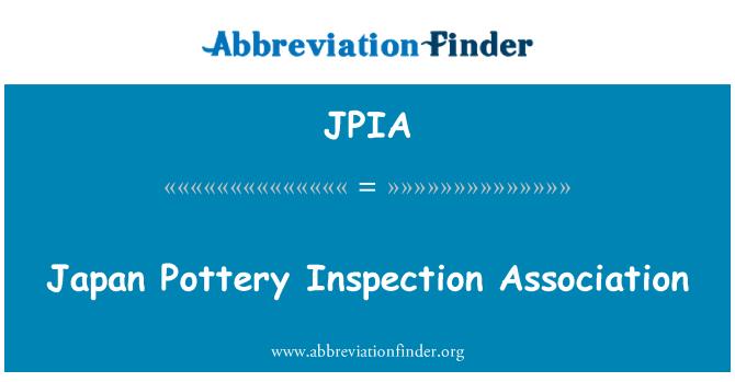 JPIA: Japan Pottery Inspection Association