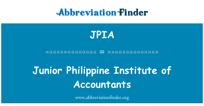 JPIA: Junior Philippine Institute of Accountants