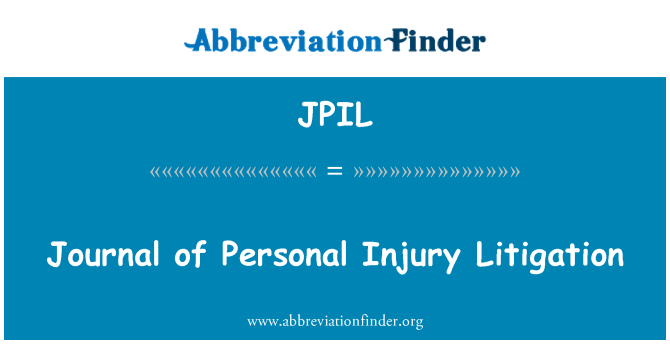 JPIL: Journal of Personal Injury Litigation