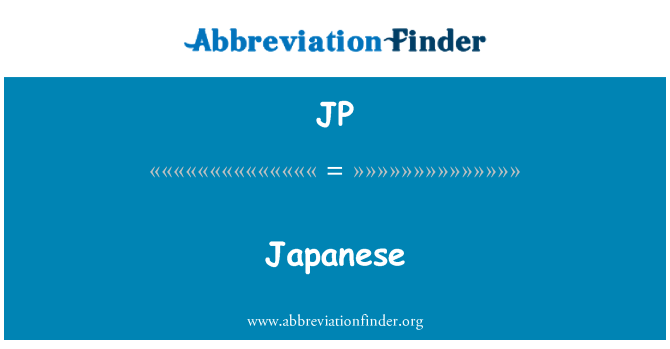 JP: Japanese