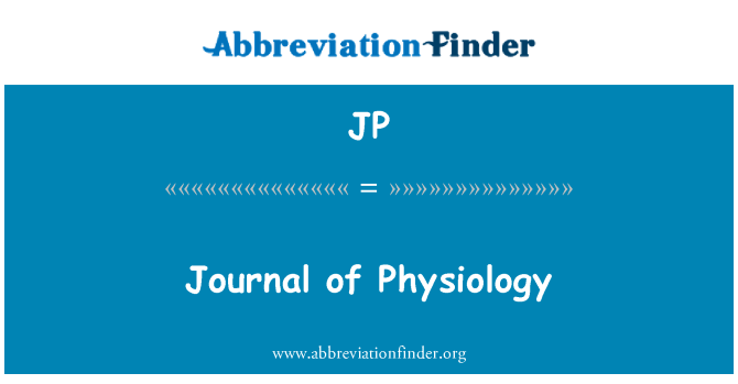 JP: Journal of Physiology