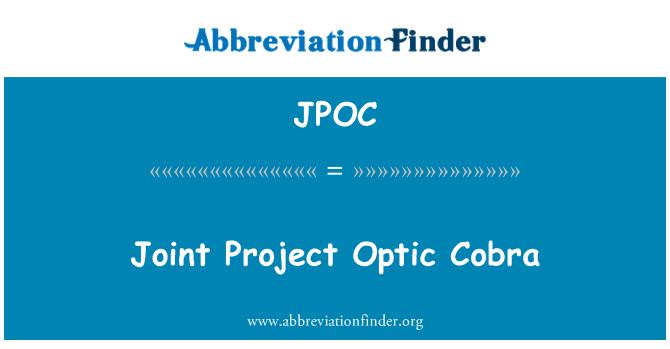 JPOC: Ortak projesi optik Kobra