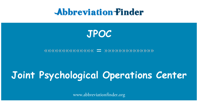 JPOC: Ühine psühholoogiline Operations Center