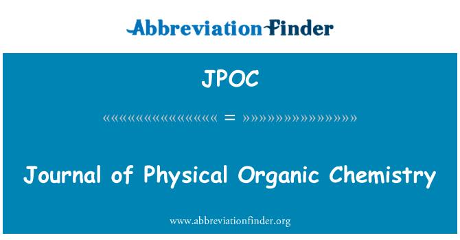 JPOC: Töölehe füüsilise orgaaniline keemia