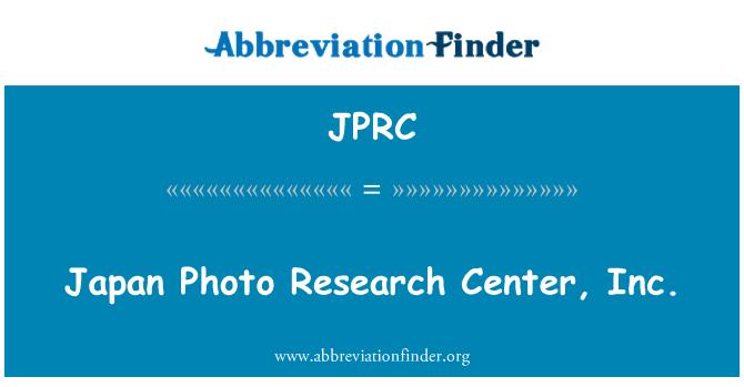 JPRC: Japonya fotoğraf Araştırma Merkezi, Inc